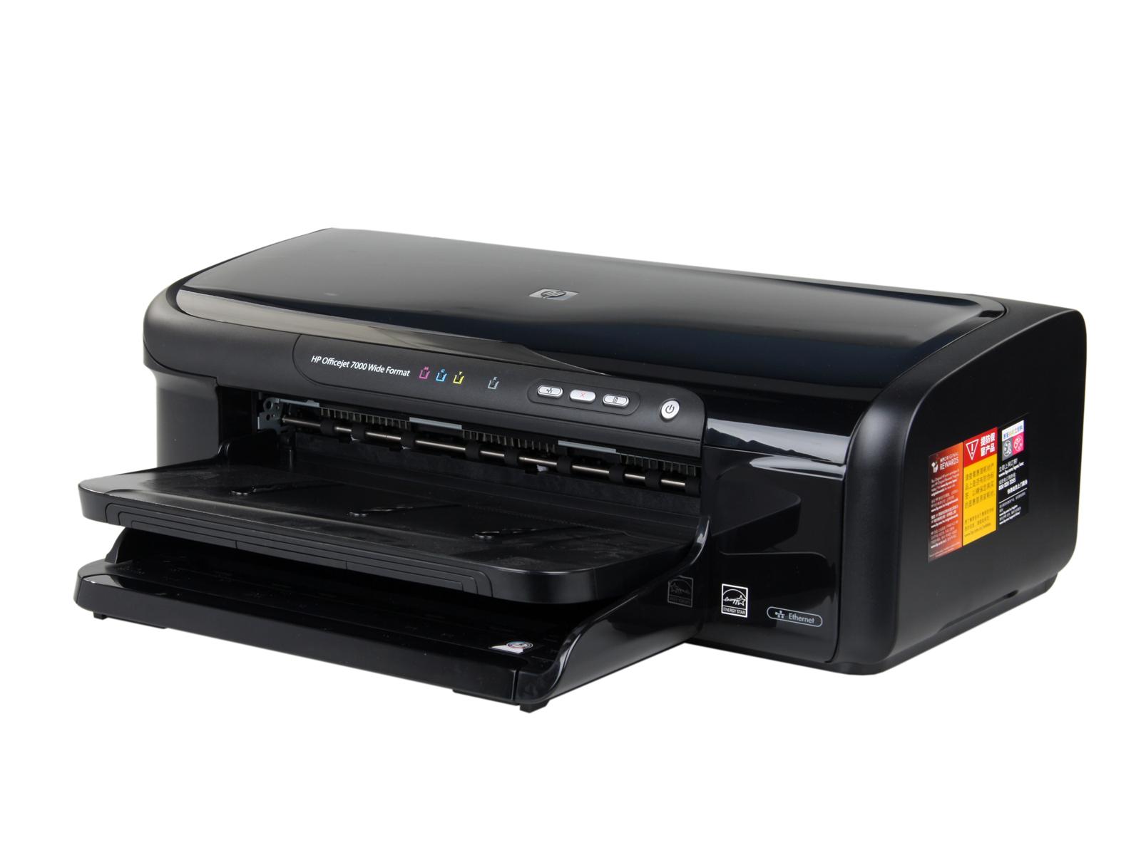 惠普 Officejet 7000 E809 C9299A 喷墨打印机 性能提升30 首次在A3 喷打上标配网络