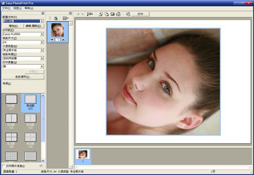 佳能pro9500markii彩色喷墨打印机easy photoprint pro插件界面