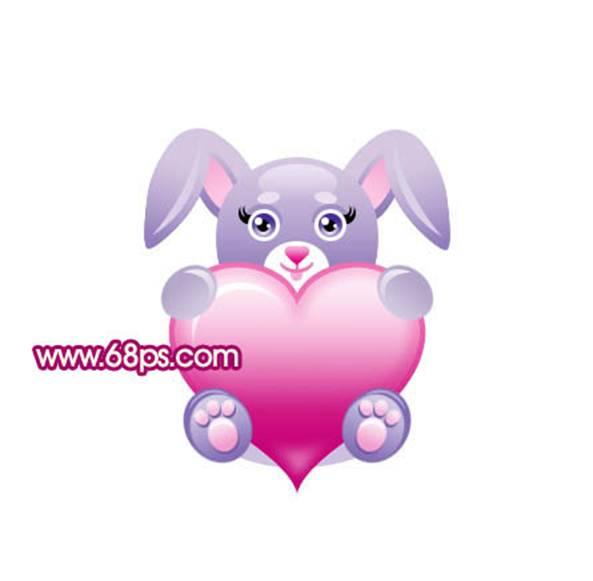 photoshop鼠绘一只形象可爱的卡通兔子