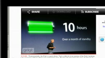 10小时 苹果iPad满足全天候使用