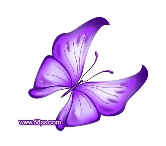 photoshop打造一只梦幻的蓝色水晶蝴蝶