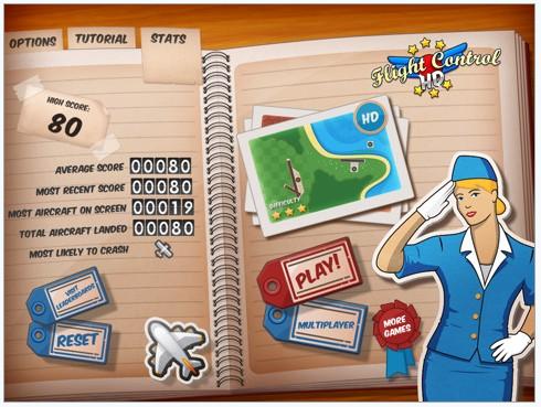是一款模拟经营类游戏,ipad版的操作也是用两只手指来控制飞机降落